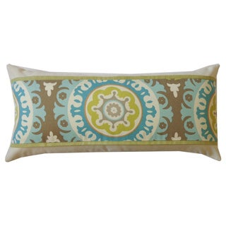 Zanihe Green Geometric 12x20-inch Pillow