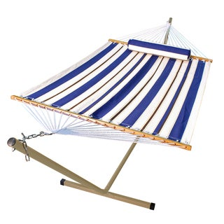 12-foot Steel Stand and 11-foot Fabric Hammock with Matching Pillow