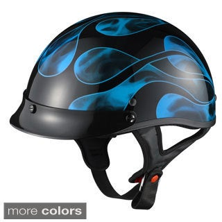 GLX Motorcycle Screw-on Visor Half Helmet