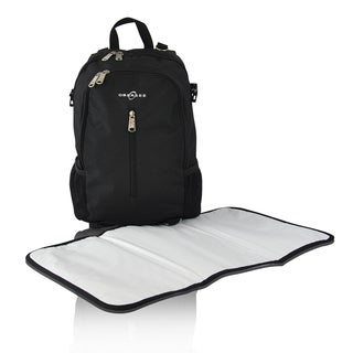 obersee rio diaper bag backpack in black. Black Bedroom Furniture Sets. Home Design Ideas