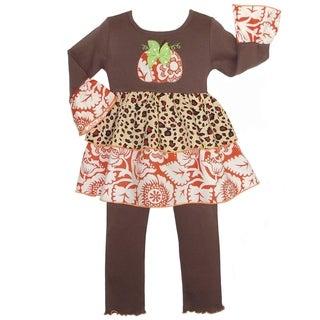 AnnLoren Girls' Boutique Thanksgiving Harvest Pumpkin Outfit