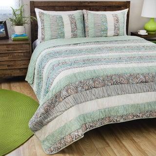 Greenland Home Fashions Paradise 3-piece Cotton Quilt Set