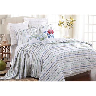 Jasmine Ruffled Cotton 3-piece Quilt Set