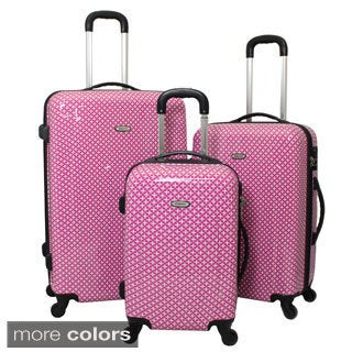 Dejuno Mihara Lightweight 3-piece Hardside Spinner Luggage Set