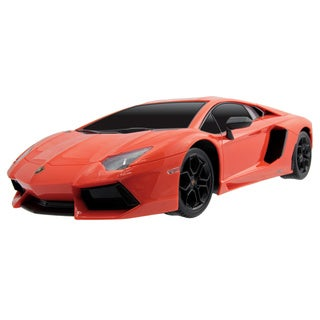 1:12 Scale Rechargeable Orange Lamborghini Advendator Remote Control Car