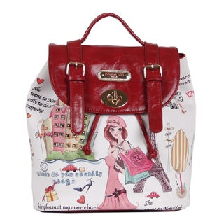 Nicole Lee Shopping Girl Print Backpack