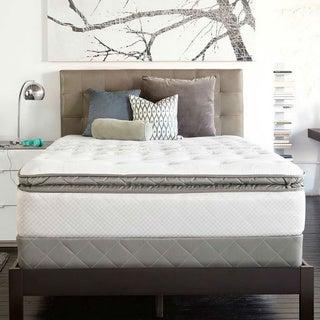 Sealy Posturpedic Gel Series Meadow Lea Cushion Firm Euro Pillowtop King-size Mattress Set