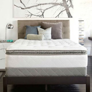 Sealy Posturpedic Gel Series Meadow Lea Cushion Firm Euro Pillowtop Cal King-size Mattress Set