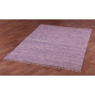 Purple Reversible Chenille Flat Weave Area Rug (9' x 12')