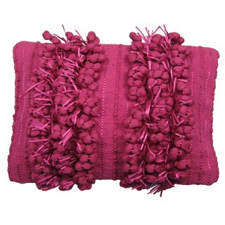 Funberry Pink Down Filled Throw Pillow