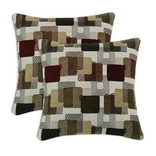 Farrar Multi Flocked 17-inch Throw Pillow (Set of 2)