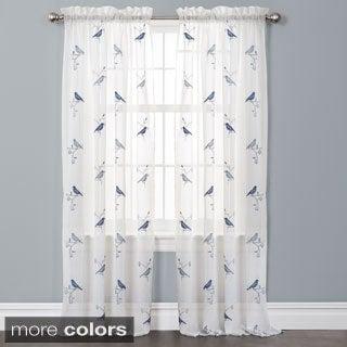 Lush Decor Elena Embroidered Curtain Panel Pair