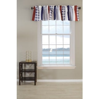 Nautical Stripe Quilted Window Valance