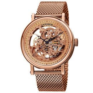 Akribos XIV Men's Mesh Stainless Steel Automatic Bracelet Watch