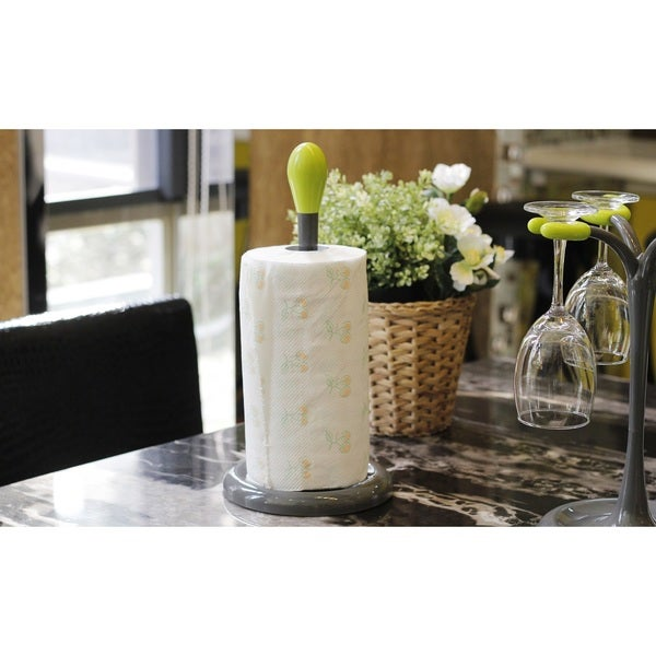 Green And Dark Grey Plastic Paper Towel Holder Overstock