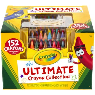 Crayola Ultimate Crayon Collection W/Sharpener And Caddy-152pc