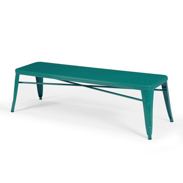 Tabouret peacock metal indoor bench overstock shopping great deals on benches Aluminum benches