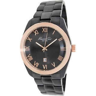 Kenneth Cole Men's KC9313 Black Stainless Steel Quartz Watch with Black Dial