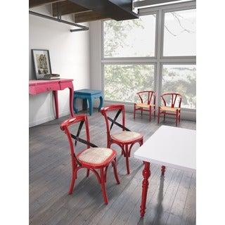 Baby Larkin Chair Green and Straw Cushion (Set of 2)