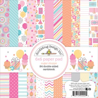 Sugar Shoppe Paper Pad 6inX6in 24/Sheets-Double-Sided