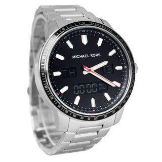 Michael Kors Men's MK8342 'Granger' Silvertone Stainless Steel Watch