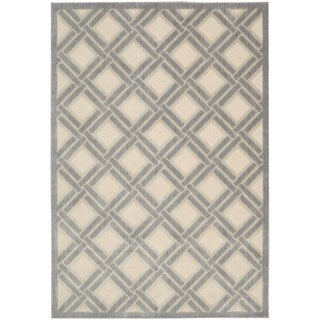 Nourison Graphic Illusions Ivory Rug (7'9 x 10'10)