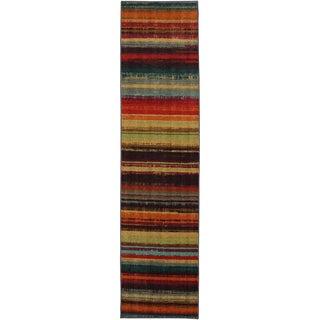 Caribbean Stripe Multi Rug (2' x 8')
