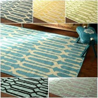 nuLOOM Flatwoven Trellis Wool Fancy Rug (5' x 8')