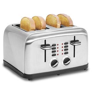 Multi-function Stainless Steel 4 Slice Toaster
