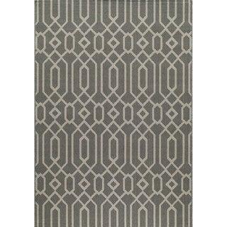 Indoor/ Outdoor Grey Links Rug (8'6 x 13')
