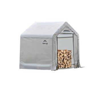 ShelterLogic Clear PE and Steel Seasoning Shed (Model 90395)