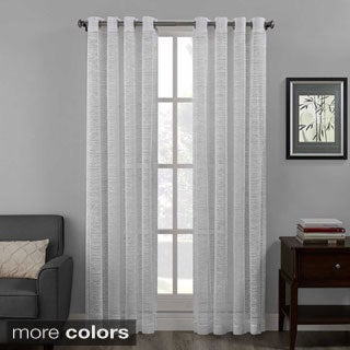 Structure Lace Grommet Top Curtain Panel