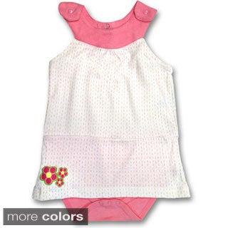 Spencer's Girls' Flower Chic Yoke Dress in Pink