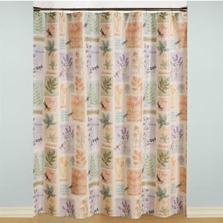 Saturday Knight Harmony Shower Curtain and 12-piece Hook Set