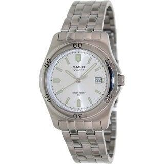Casio Men's MTP1213A-7AV Silvertone Stainless Steel Quartz Watch with Silvertone Dial