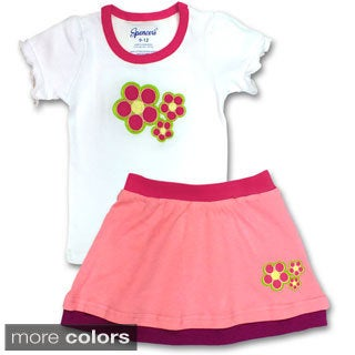 Spencer's Girls' Flower Tee and Skirt Set