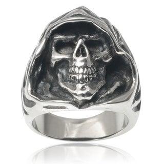 Vance Co. Men's Stainless Steel Grim Reaper Skull Ring