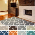 Artistic Weavers Hand-tufted Autumn Moroccan Tiled Wool Area Rug (8' x 11')