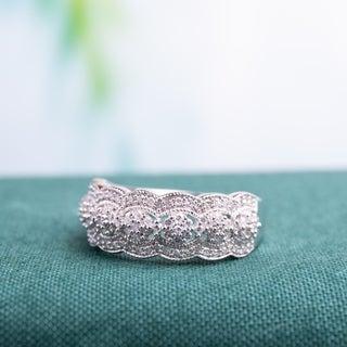 Miadora 10k White Gold 1/2ct TDW Diamond Ring (H-I, I2-I3)