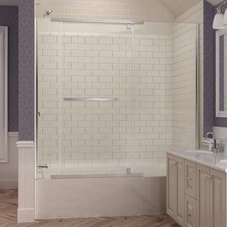 Dreamline Vitreo-X 58 - 58.75 in. W x 58 in. H Frameless Pivot Tub Door, Clear Glass