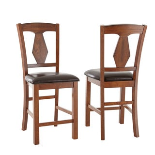 Lansing Medium Oak and Leatherette Counter-height Dining Chairs (Set of 2)