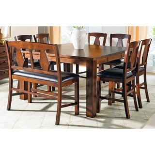 Lansing Medium Oak and Leatherette Counter-height Dining Sets