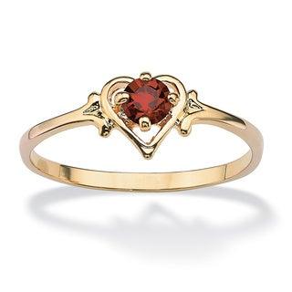 PalmBeach Birthstone Crsytal Heart Ring Color Fun