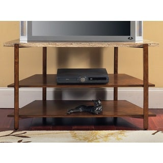 Toledo Faux Marble Media Stand