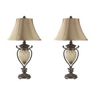 Signature Designs by Ashley Gavivi Dark Brown Metal 2-light Table Lamp (Pack of 2)