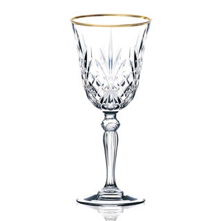 Lorren Home Trends Siena Collection Crystal White Wine Glasses (Set of 4)