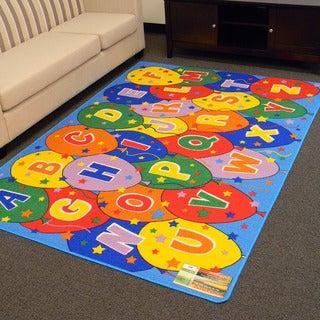 DonnieAnn Paradise Alphabets Ballon Design Multicolor Area Rug (5'x7')