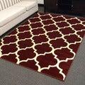 DonnieAnn Tiffany Design Geometric Pattern Burgundy Area Rug (5'x7')