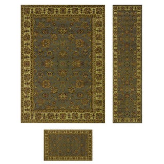 Heatset Collection Traditions Grey 3-piece Rug Set