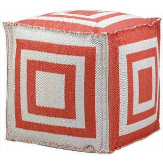 Nourison Mina Victory Orange Indoor /Outdoor 16-inch Cube
